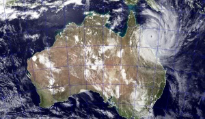 Image du Cyclone Tropical YASI en 2011.