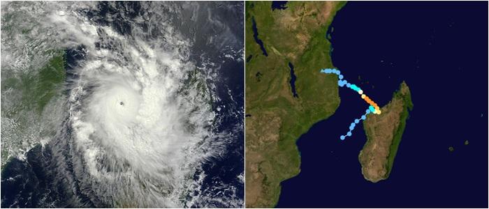 Image NOAA et Trajectoire complète